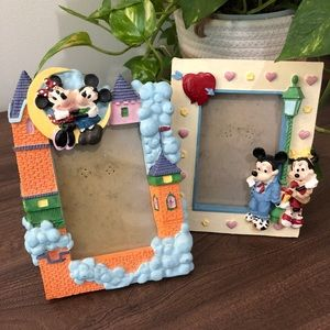 2 Vintage Disney Mickey Mouse Picture Frames